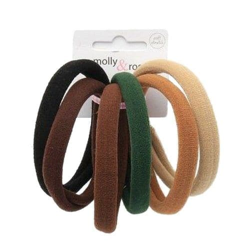 Large Natural Jersey Endless Fabric Hair Elastics Bobbles